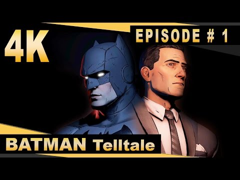 Batman: The Telltale Series - Episode #1 - 4K Gameplay - Realm of Shadows (Full Episode)