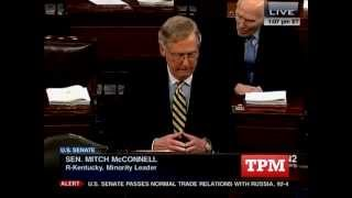 Mitch McConnell Filibusters His Own Bill