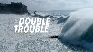 Double Trouble  Big Wave & Dramatic Aftermath Sequence #Drone  Nazaré, Portugal