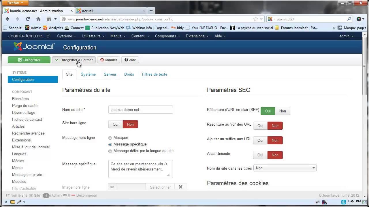 Joomla 3 - Niveaux d'accès et groupe utilisateurs