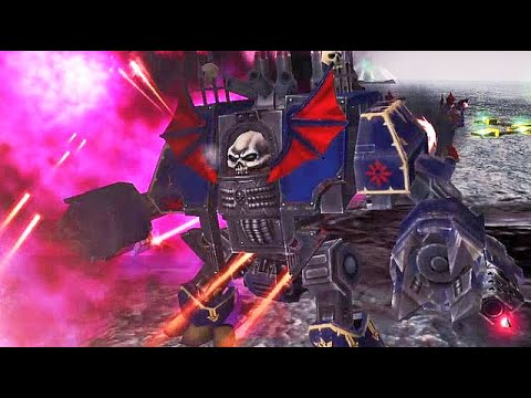 ECHO OF HERESY   Night Lords vs Salamanders! - Warhammer 40K: Dawn of War Soulstorm  