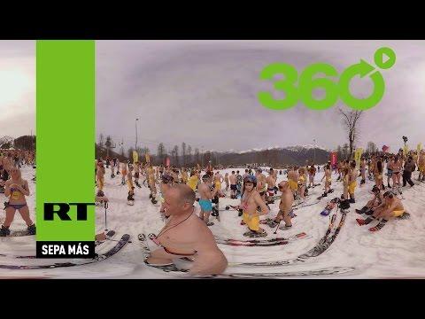 VIDEO 360: Una verdadera avalancha de bikinis en Sochi, Rusia (4K)