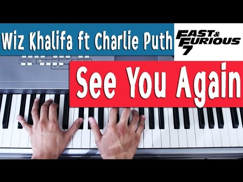 Piano Tutorial 2 [Español] - See You Again - Wiz Khalifa ft Charlie Puth - Rapido y furioso 7