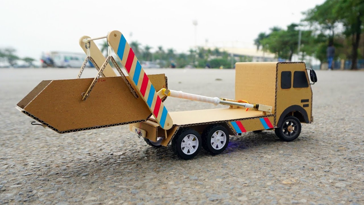 How to make Remote control Truck - Skip loader truck / Skip Lifts - Garbage  Truck for Chidren