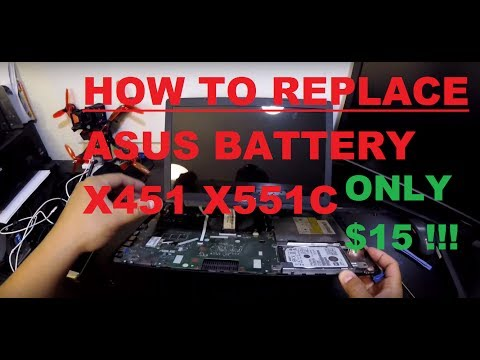 Asus X551CA X55 Laptop Battery Replacement. Fixes Blinking Red Light And Horrible Battery Life