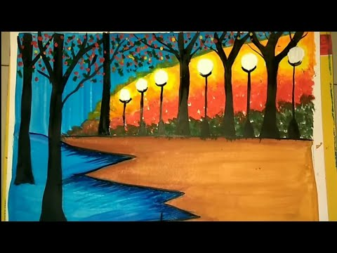 How To Draw A Beautiful Easy Nature Painting Youtube Free returns high quality printing fast shipping. how to draw a beautiful easy nature painting