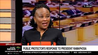 Mkhwebane responds to Ramaphosa's decision to take her report on judicial review