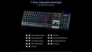 Tastiera LESHP Led Colorato Retroilluminato Multi Controllo