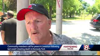 Community members call for peace after deadly attack in Lewiston park