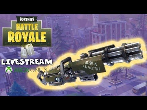 New Minigun Update - Fortnite Battle Royale Gameplay - Xbox One X - Livestream