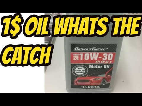 Is Dollar Tree Motor Oil A Bad Idea