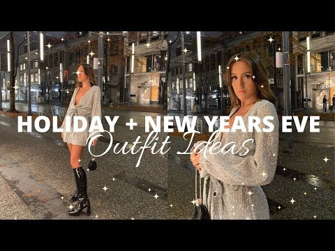 HOLIDAY + NEW YEARS EVE OUTFIT IDEAS! | Emma Rose