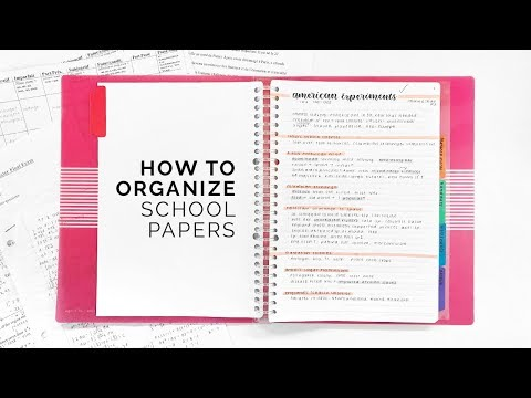 How to Organize Papers for School