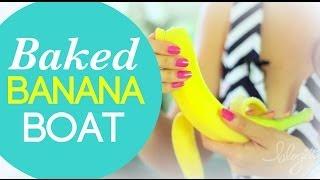 Baked Almond Butter Banana Boat | Cheap Clean Eats
