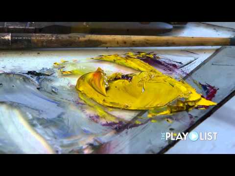 Abstract Artist AJ Atwater & Elizabeth Kuth at Work