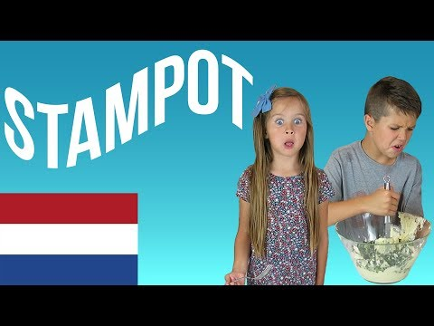 American Kids Try Food From Netherlands | Dutch Stamppot