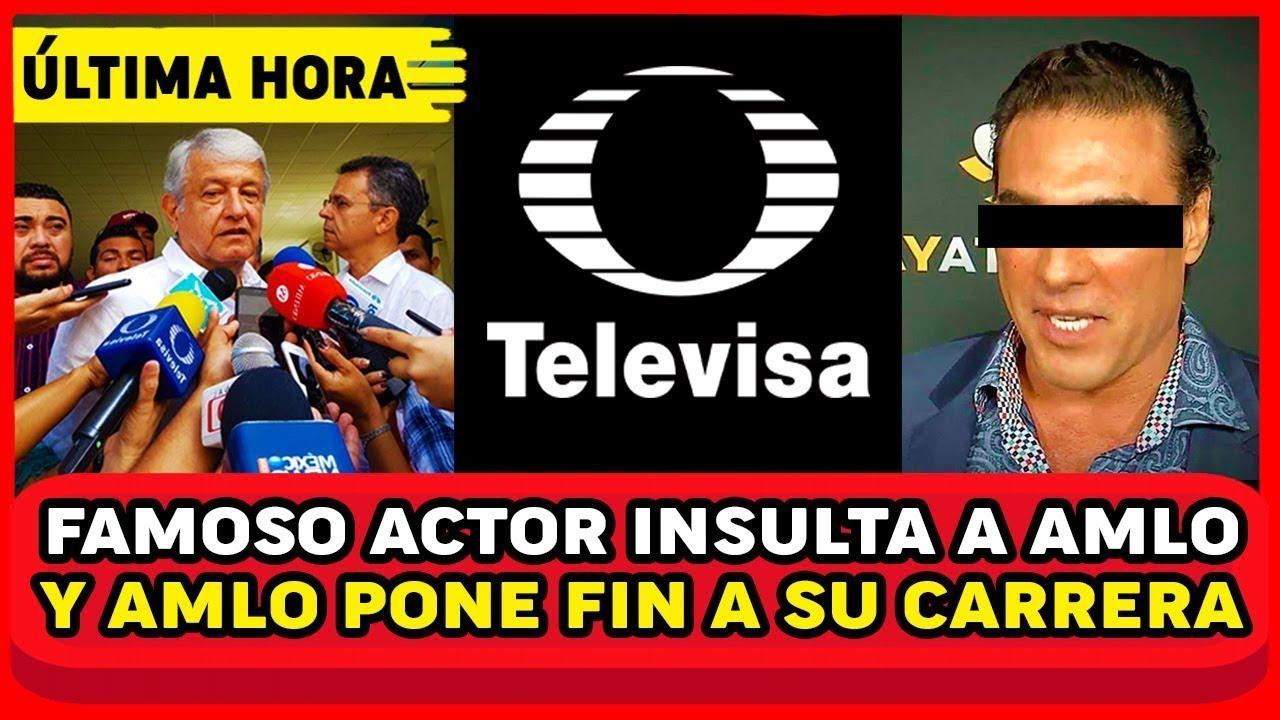 DIRECTO AL BOTE! ACTOR DE TELEVISA ATAK4 A AMLO! FRACASA SU CARRERA Y FGR REVELA TODO MEXICO NOTICIA