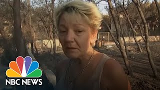 'I Have No Words:' Greek Woman Survived By Shutting Herself In Wildfire-Hit Home | NBC News