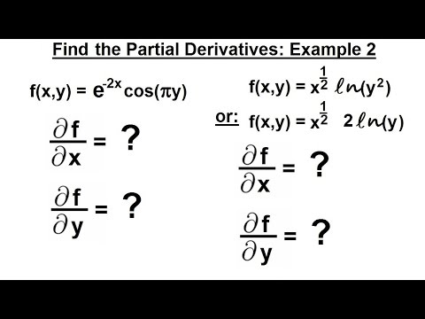 Calculus 3: Partial Derivative (6 of 30) Find the Partial Derivative: Example 2