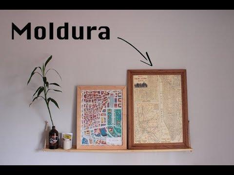 Moldura de madeira  [Wooden picture frame DIY]