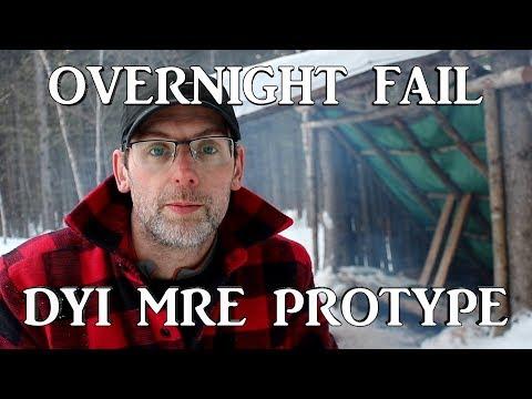 Overnight Fail at the Bushcraft Basecamp | DIY MRE Prototype