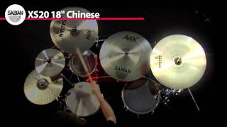 "SABIAN 18"" Xs20  Chinese Product Demo"
