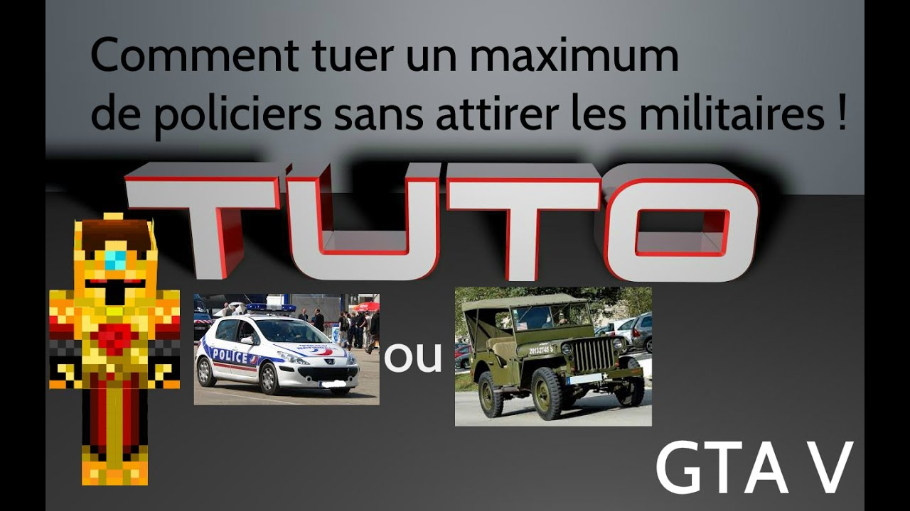 tuto gta v comment tuer beaucoup de policiers sans avoir les militaires youtube. Black Bedroom Furniture Sets. Home Design Ideas