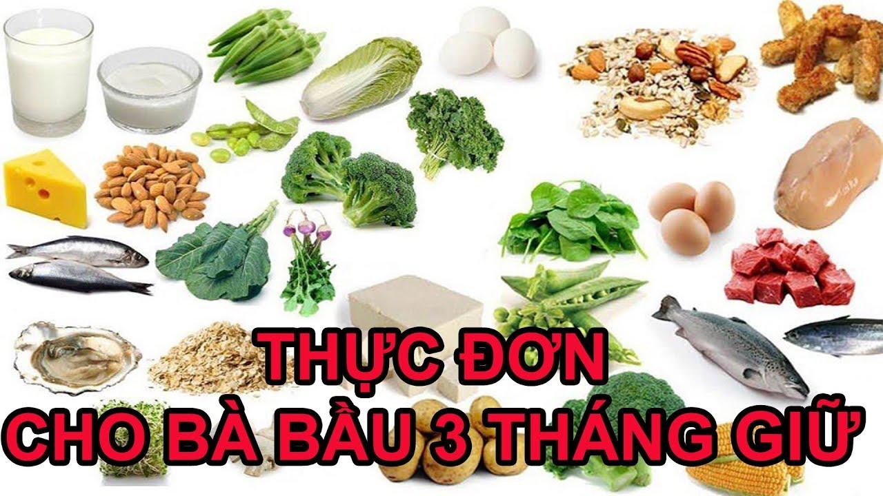CÁCH LÊN THỰC ĐƠN CHO BÀ BẦU 3 THÁNG GIỮA THAI KỲ MẸ KHOẺ CON THÔNG MINH I Thái Thọ