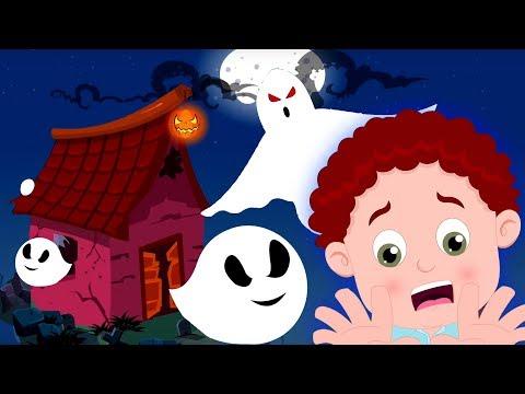 haunted-ghost-house- -schoolies-cartoons- -halloween-songs-for-kids