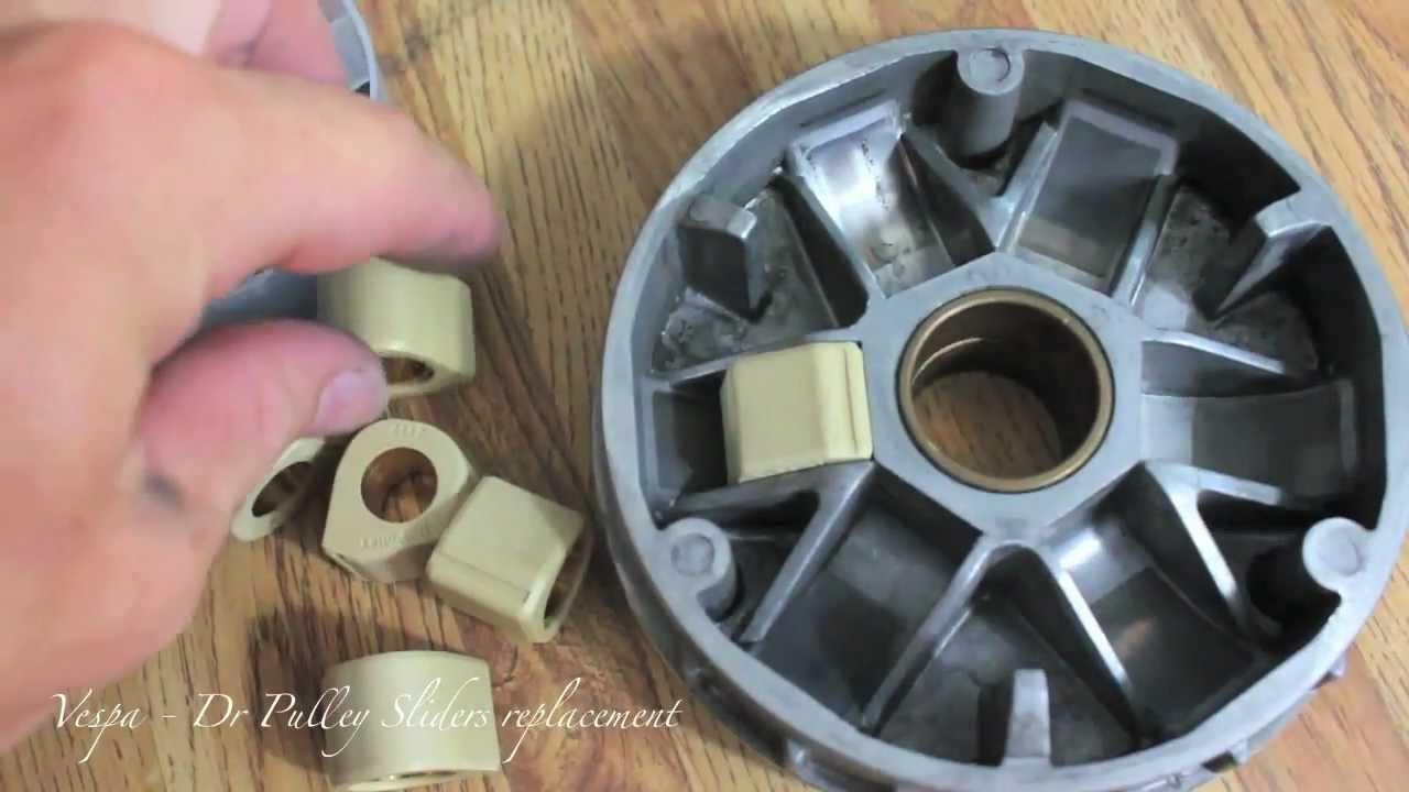Vespa  Dr Pulley Sliders Replacement  MicBergsma  YouTube