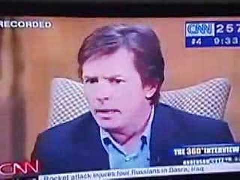 Michael J. Fox CNN  with Anderson Cooper
