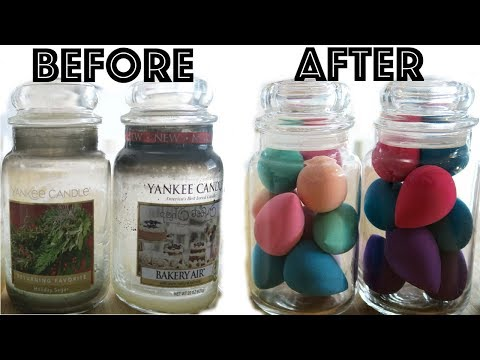 How to Remove Wax from a Yankee Candle Jar!