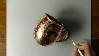3D drawing of a copper mug