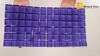 Glass Mosaic Tile Backsplash Light Purple 1x1 - 101CHIGLABR140