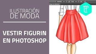 Cómo vestir y colorear un figurín de moda en Photoshop - tutorial