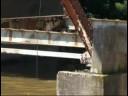Giant crane plucks landmark 1912 bridge