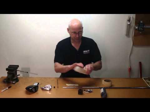How To Assemble A Custom Golf Club Part 6 -- How To Install Ferrule & Epoxy Golf Shaft On Clubhead