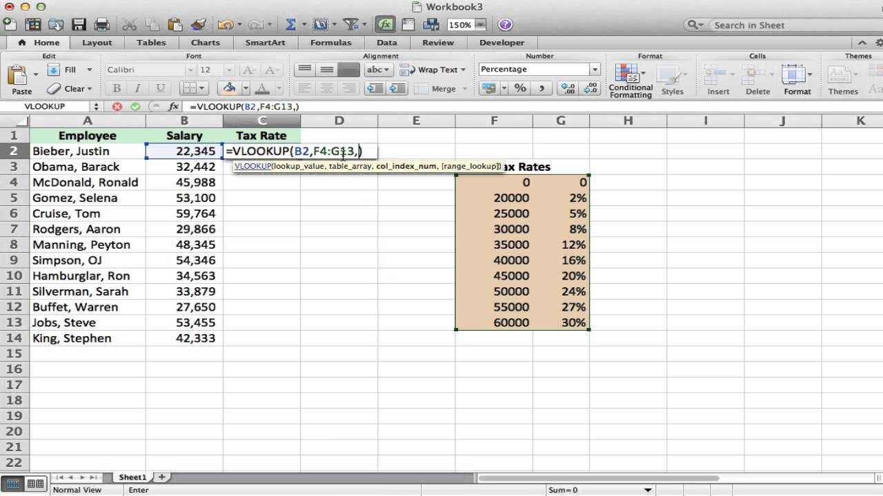 Excel Vlookup Tutorial And Example Youtube