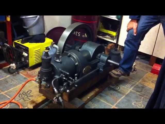 1912 1hp National Type F Hot Tube Gas Engine - First run in 50+ years for this engine!