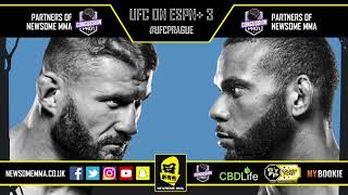 UFC Prague breakdowns, predictions and topics hosted by Newsome & Jon