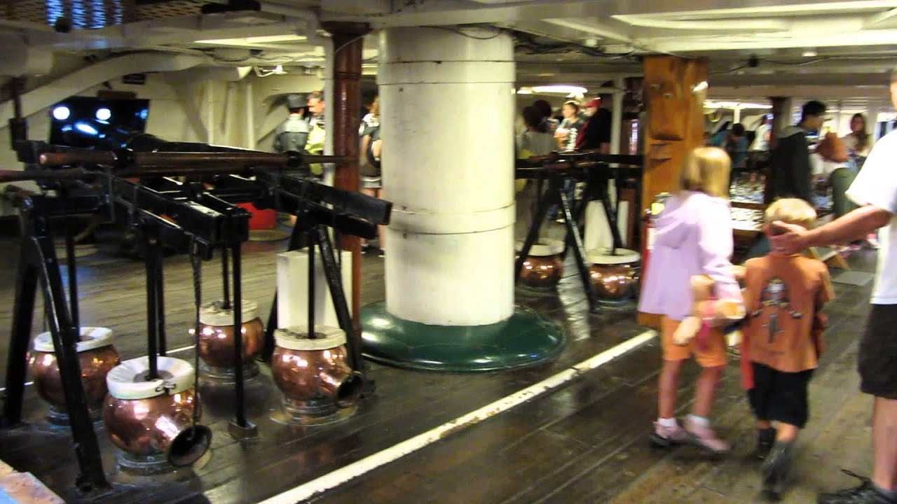 Gun deck of the USS Constitution - YouTube Uss Constitution Pictures Of Deck