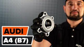 Comment changer Jeu de roulements de roue A4 (8EC, B7) - vidéo manuel pas à pas