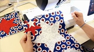 Fourth Of July Table Runner Project Part 2 - Using The Janome 12000's Applique Blanket Stitch