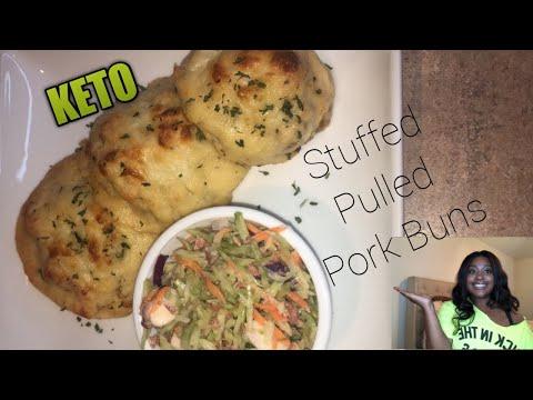 keto-stuffed-pulled-pork-buns-|-homemade-low-carb-rolls-|-fathead-dough
