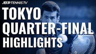 Djokovic Sets Up Goffin Semi-Final; Millman & Opelka Progress | Tokyo 2019 Quarter-Final Highlights