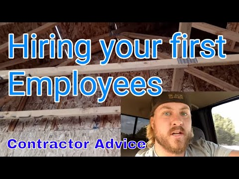 Hiring your first employees! Contractor advice