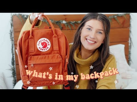 WHAT'S IN MY BACKPACK // Is Fjallraven Kanken Worth It?
