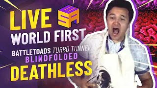 DEATHLESS LIVE WORLD FIRST TMR Beats Battletoads Turbo Tunnel BLINDFOLDED