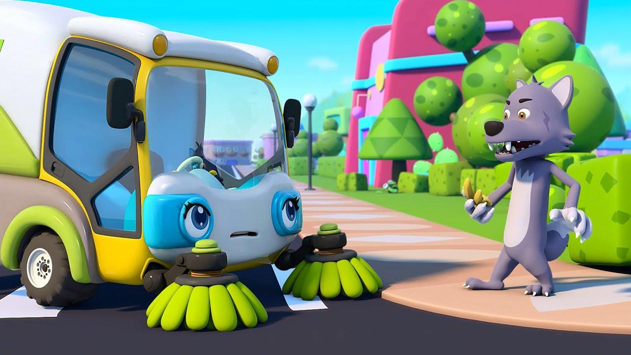 Street Sweeper Gets to Work | Monster Cars | Fire Truck | Nursery Rhymes | Kids Songs | BabyBus