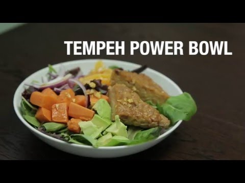 Easy Tempeh Power Bowl: Marinated in Soy and Ginger with Sweet Potatoes and Avocado